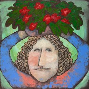 Blomsterdamen er et av bildene Vivian Zahl Olsen vil presentere på Vårslepp.